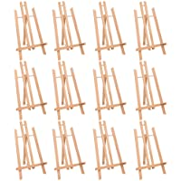 "MEEDEN 16"" Tall Tabletop Easel - 12PCS Medium Tabletop Display Solid Beech Wood Easel, for Kids Artist Adults Classroom…"