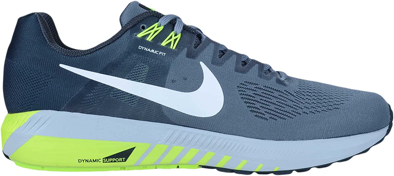 escapar Poder conspiración  Amazon.com | Nike Men's Air Zoom Structure 21 Running Shoe (8.5 M US, Cool  Gray/White/Anthracite/Volt) | Running