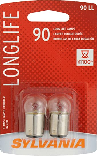 SYLVANIA 90 Long Life Miniature Bulb (Contains 2 Bulbs)