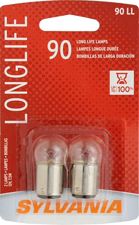 Amazon.com: SYLVANIA 90 Long Life Miniature Bulb (Contains 2 Bulbs): Automotive