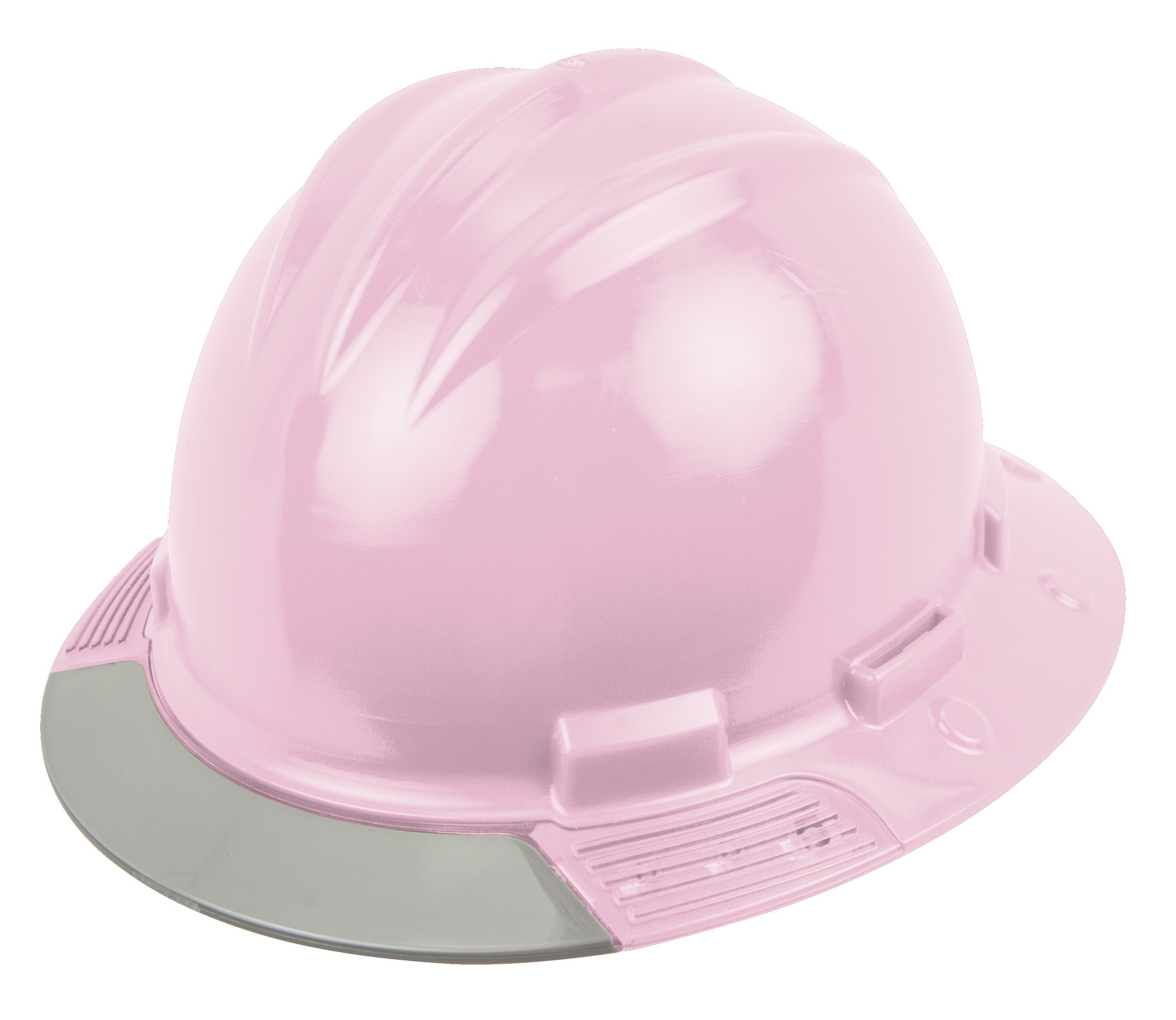 Bullard AVLPBG Above View Hard Hat, Light Pink, Vinyl Brow Pad, Ratchet Suspension, Grey Visor, One Size