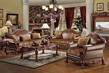 Fine Amazon Com Acme Dresden Living Room Set With Sofa And Machost Co Dining Chair Design Ideas Machostcouk