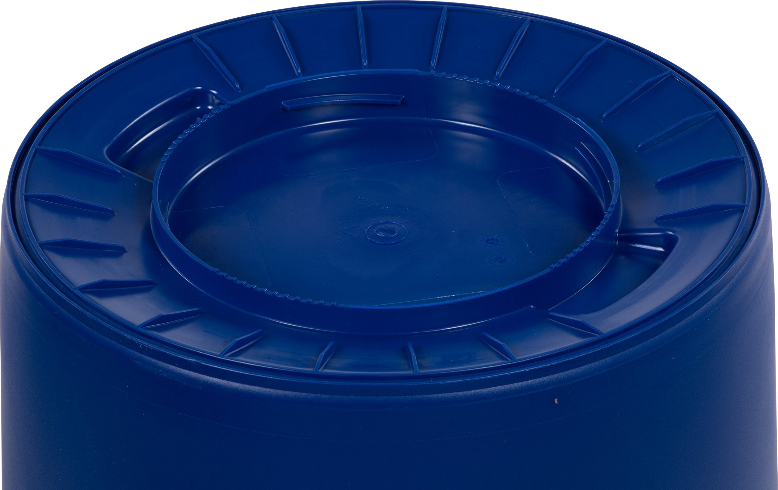 Carlisle 341032REC14 Bronco LLDPE Recycle Waste Container, 32-gal. Capacity, 22.37 x 27-3/4, Blue (Case of 4) by Carlisle (Image #3)