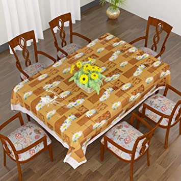 cdc0c55333d Buy CASA FURNISHING PVC 6 Seater Dining Table Cover with 3D Impact (60X90  Inches) Online at Low Prices in India - Amazon.in