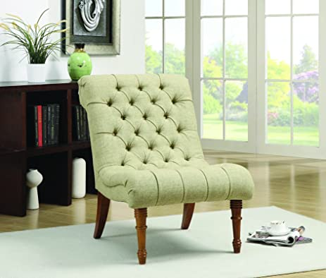 Amazon.com: Coaster Home Furnishings Casual Accent Chair, Light ...