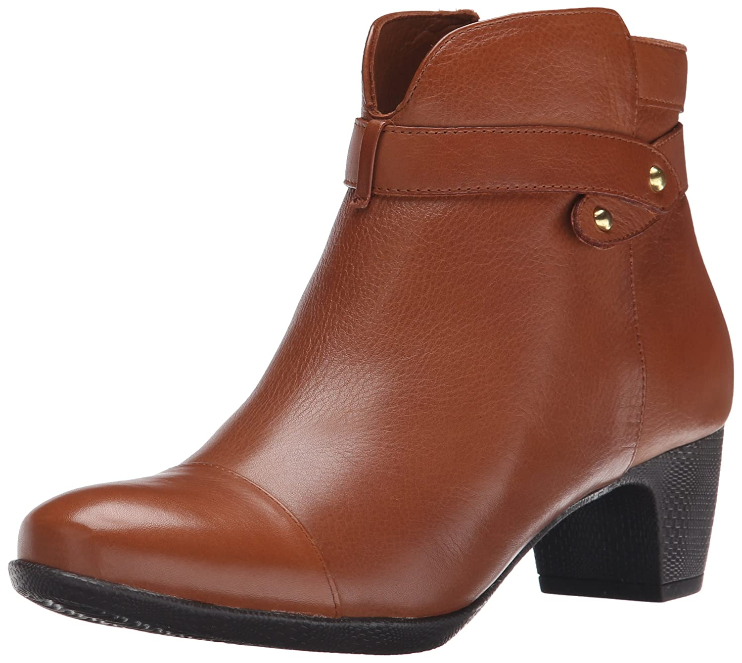 SoftWalk Women's Ivanhoe Harness Boot B00HQLNIDC 8 N US|Cognac