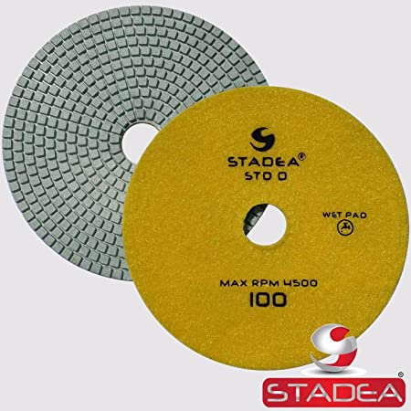 7 Inch Polishing Pad for Hand Grinders Wet//Dry Use Concrete 100 Grit
