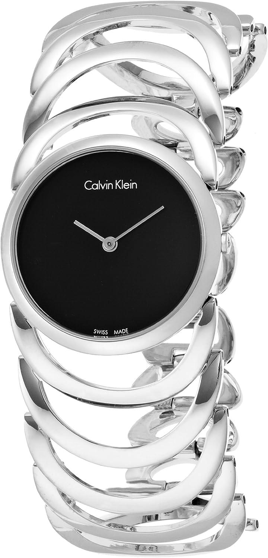 Calvin Klein–Reloj de Pulsera analógico para Mujer Cuarzo Acero Inoxidable k4g23121
