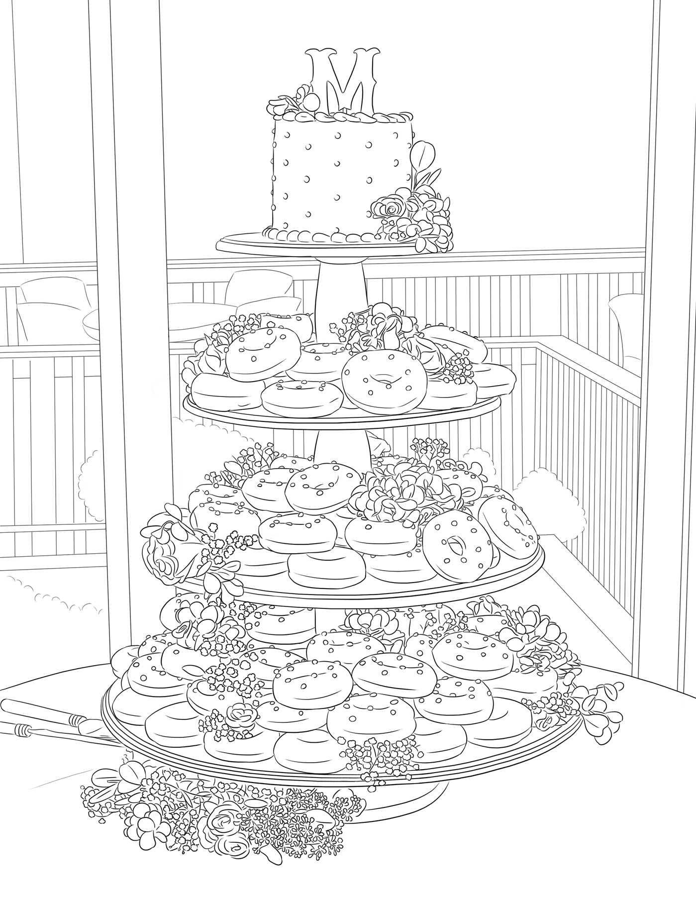 coloring book wedding : Amazon Com The Maci And Taylor Wedding Album An Adult Coloring Book 9781682613221 Maci Bookout Taylor Mckinney Books