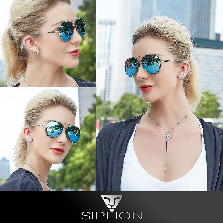 SIPLION Metallo Occhiali Da Sole da uomo donna Polarizzati Protezione UV