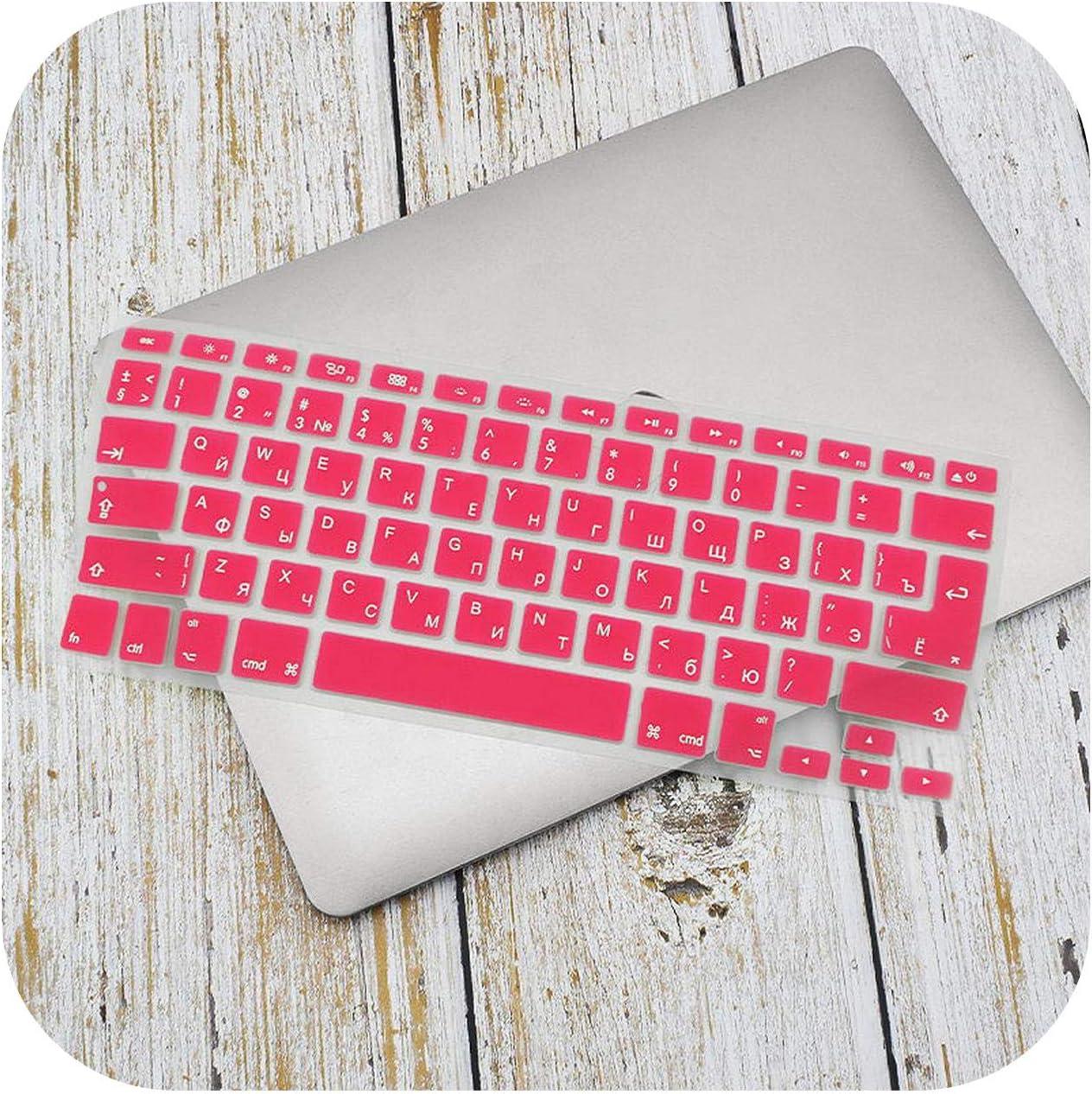 Russian English Keyboard Cover for MacBook Pro Air 13 15 Soft TPU Waterproof Keyboard Stickers for MacBook EU US 13 15-Purple