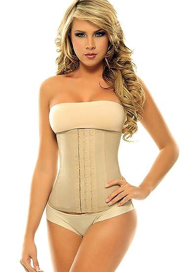 f6cc05f5d3624 Amazon.com  Corset Mujer Skin Color Latex Waist Girdle with Black Cotton  Undercover Faja…  Health   Personal Care