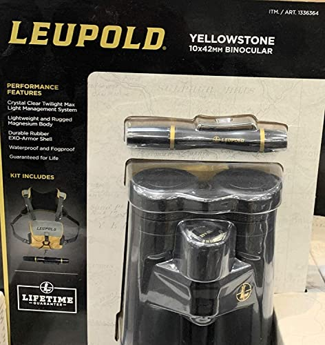 Leupold Yellowstone 10x42mm Binocular Black