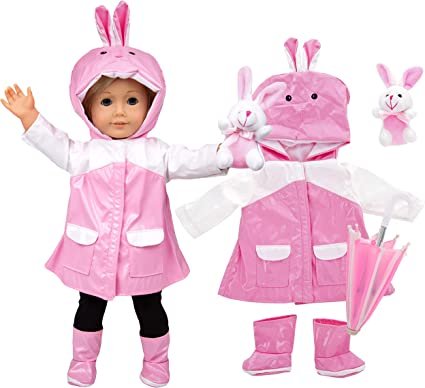 Easter Bunny Rabbit Costume Vest 18 in Doll Clothes Fit American Girl