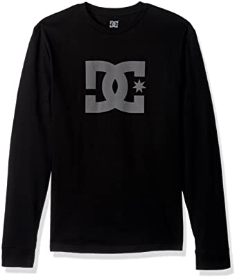 Amazon.com: DC Men's Star Long Sleeve Logo Tee Shirt: Clothing