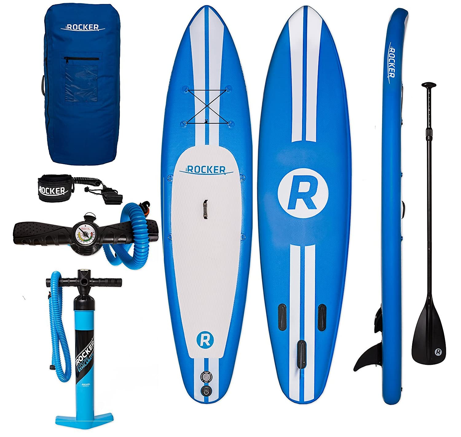 iRocker Tabla Inflable de Paddle Surf, 335x76x15cm Conjunto Sup