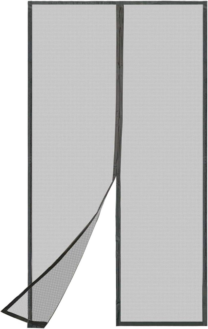 TheFitLife Mosquitera Cortina Puerta Exterior - Red de fibra de vidrio al 100% con de cierre de gancho y bucle e imanes potentes que cierran instantáneamente, dejando todos los insectos fuera.