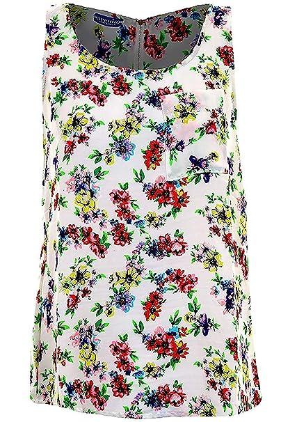 1ab5dbbf7c99 ZAFIRO Mujer Floral Azteca Pájaro Estampado De Mariposas Mujer Sin ...