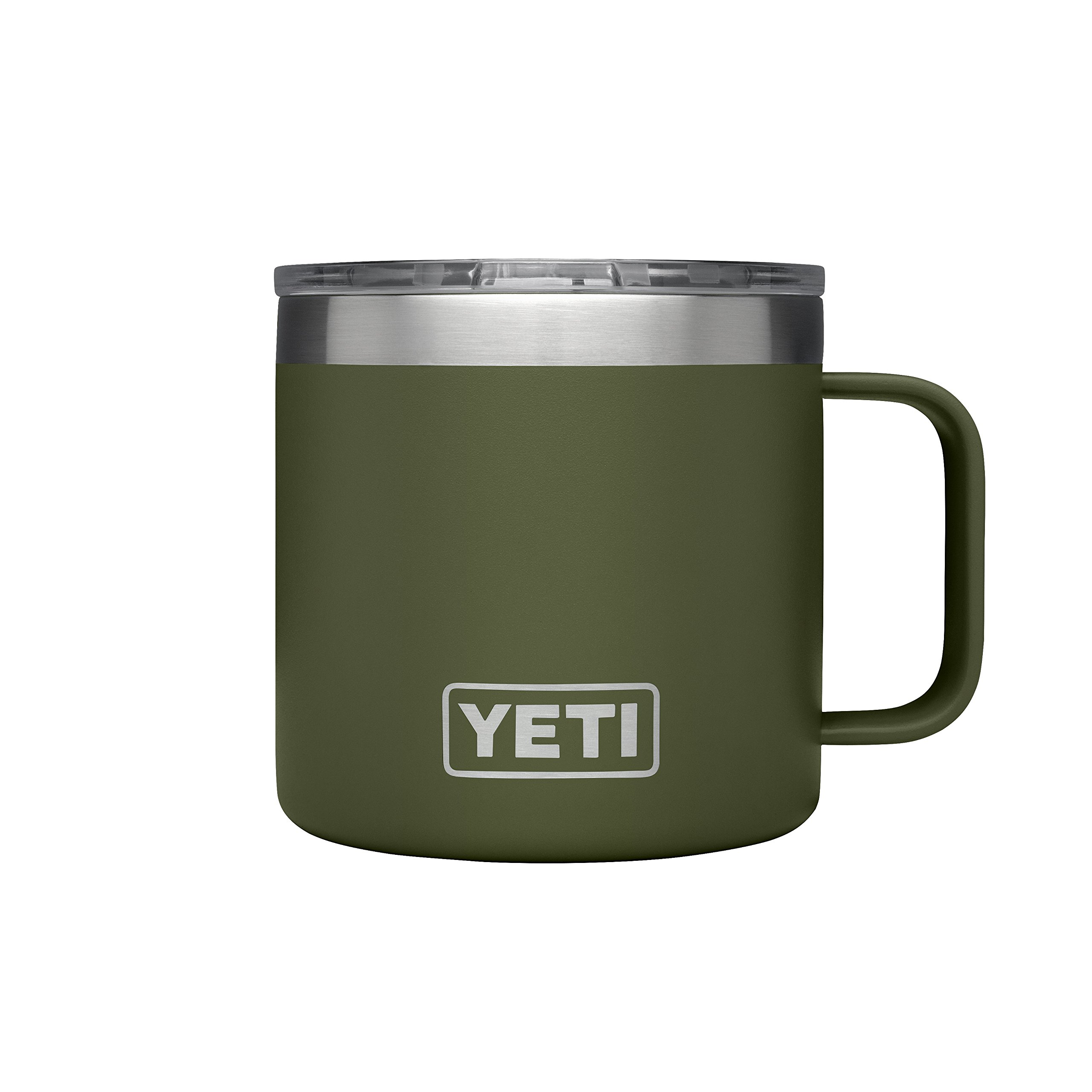 YETI Rambler 14 oz Stainless Steel Vacuum Insulated Mug with Lid, Olive Green