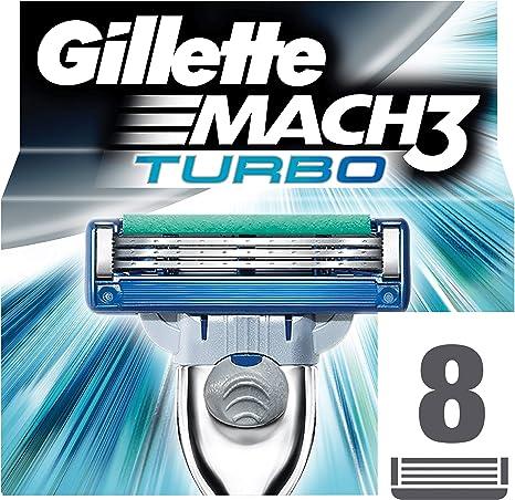 Gillette mach3 turbo - Recambios para cuchillas de afeitar (8 ...