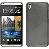 Coque en Silicone pour HTC Desire 816 - brushed argenté - Cover PhoneNatic Cubierta + films de protection