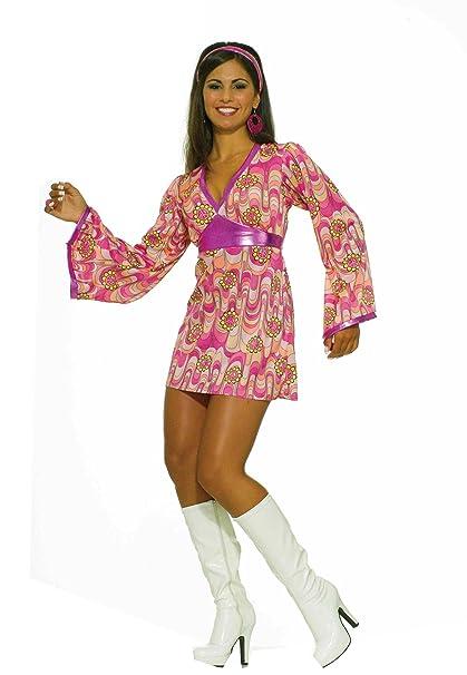 Amazon Forum 60s Revolution Go Go Flower Power Dress Pink