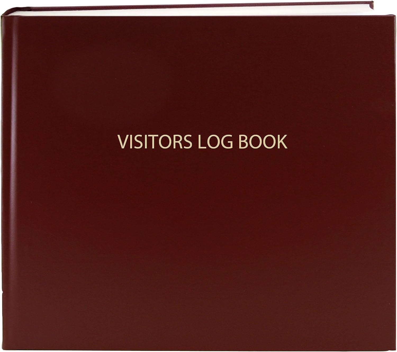 /Blue cover Bookfactory/® Visitor Log Book//Visitor register//Visitor sign-in Book/ /120/pagine Smyth Sewn Hardbound White 8/7//20,3/x 17,8/cm/
