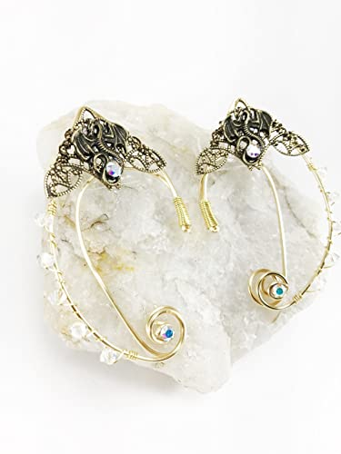 bccb0cb7d Amazon.com: Elven Ear Cuffs Filigree DRAGON, Fairy Ear Cuffs, Cosplay Elf  Ear Cuffs, Fantasy Costume Ear Cuffs, Dragon Ear Cuffs, Wire Ear Cuffs:  Handmade