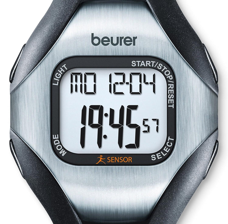 color negro Beurer PM18 medidor de ritmo cardiaco Puls/ómetro sin correa pectoral sensor de actividad