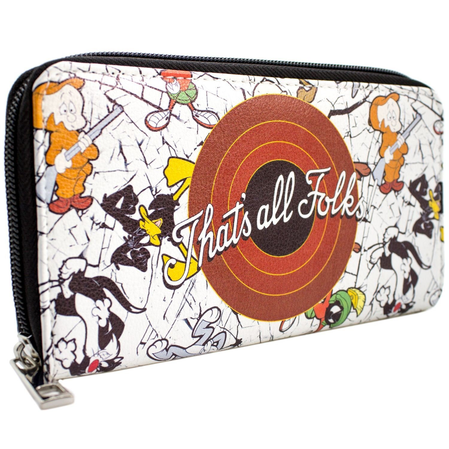 Looney Tunes That's All Folks! Bugs & Daffy Blanc Portefeuille