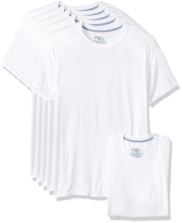 Hanes Mens Standard 5-Pack X-Temp Comfort Cool Crewneck Undershirt 2535SV