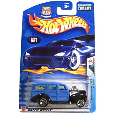 Hot Wheels 2003 Wild Wave '40 Woody 3/5 057 Blue 1:64 Scale: Toys & Games