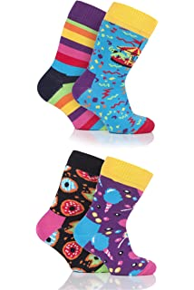Happy Socks Boys and Girls Doughnut Cotton Socks Pack of 1