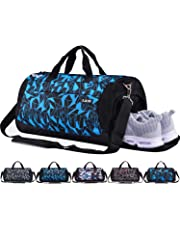 c0072e4098a CoCoMall Sports Gym Bag with Shoes Compartment and Wet Pocket