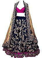 Gk Trendz Blue Banglorie Silk Women's Lehenga Choli (Gk022_Free Size)