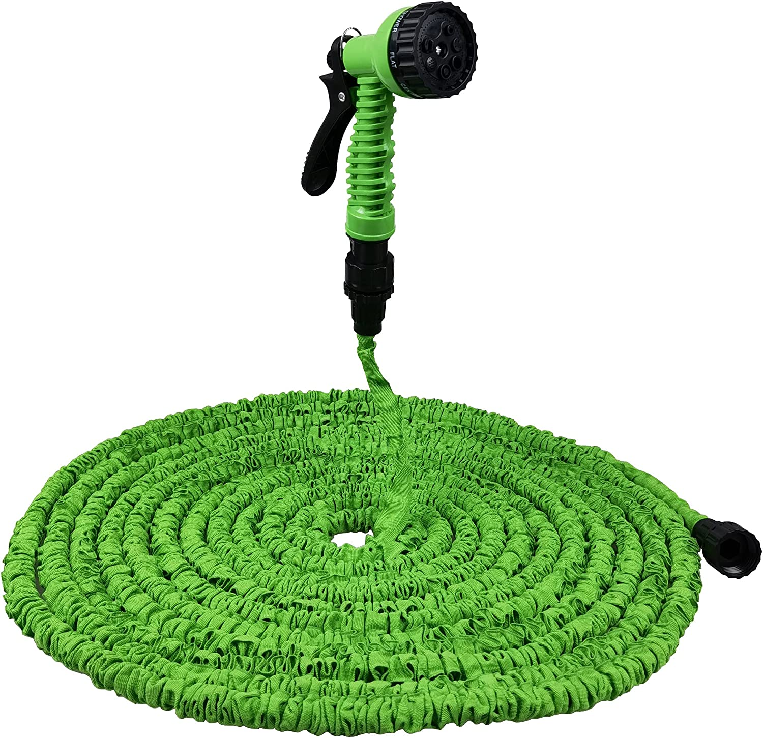 Expandable Garden Hose 100 ft, Water Collapsible Hose with 7 Function Spray Nozzle, Durable 3-Layers Latex Core with 3/4