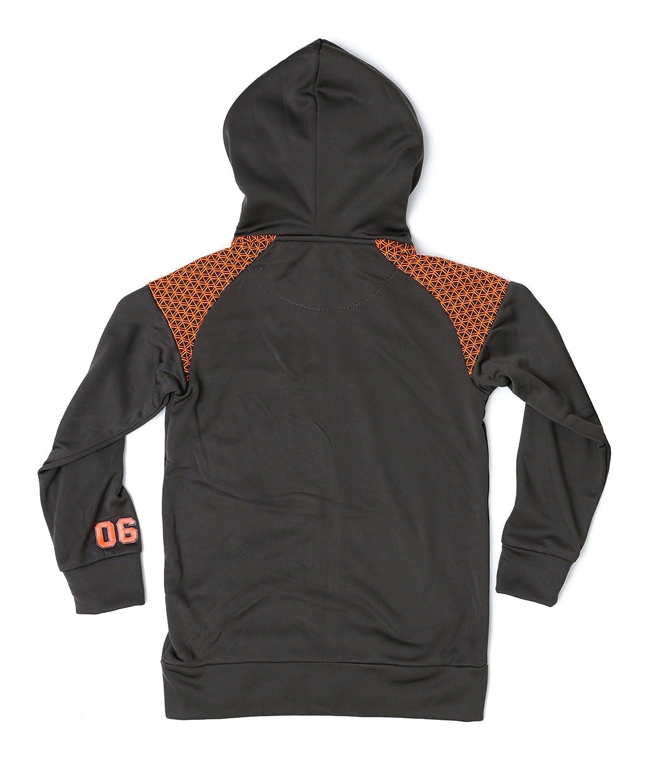 e7daddc367e5c Amazon.com: New Balance Fleece Boys' Hoodies/Jacket 3 (2T, Charcoal Neon  Orange): Clothing