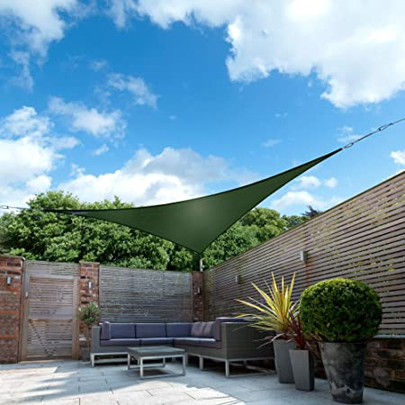 Kookaburra Waterproof Sun Sail Shade Green – 16ft 5 Triangular