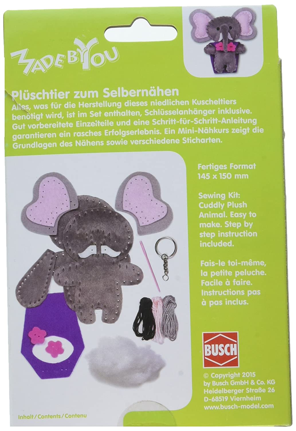 Amazon.com: Busch Made by You 13058 Elephant Childrens Craft Kit: Toys & Games