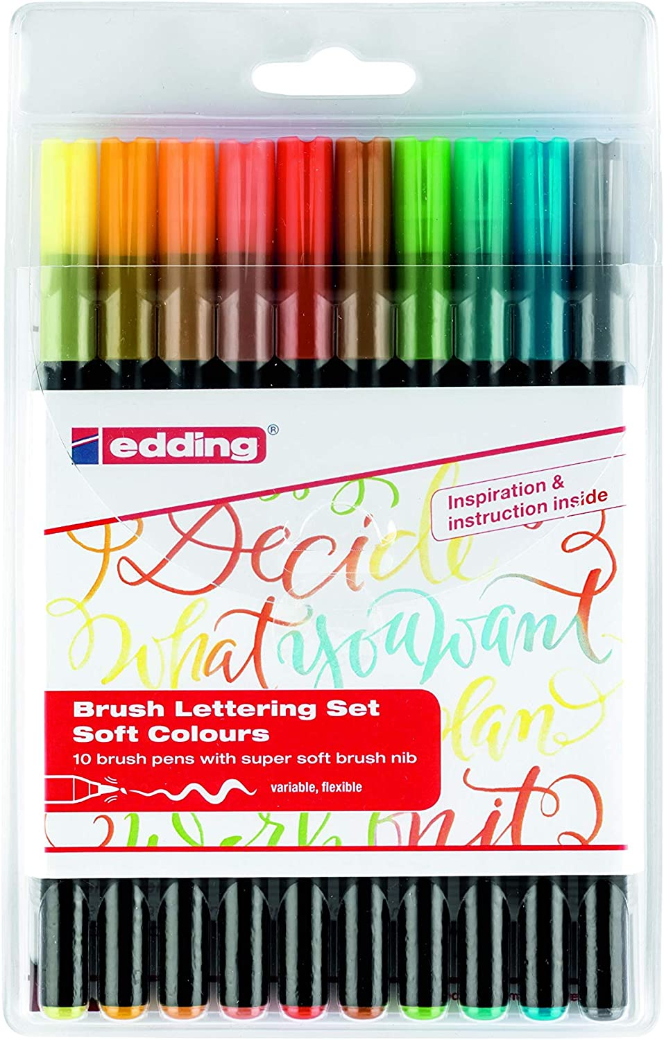 edding 1255 Calligraphy Pen Pack of 3 Brown