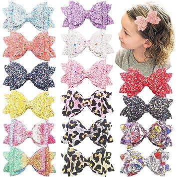 Glitter Hair Bow Clip Hair Accessories Girls Bows Gift Bow Set Babies Bows Headbands