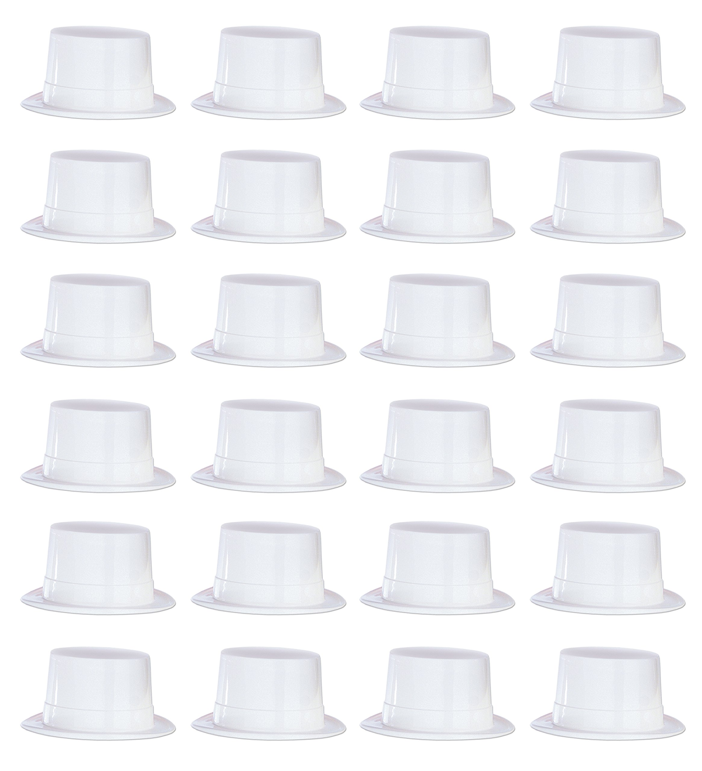 Beistle 66625 24-Piece Plastic Toppers, White