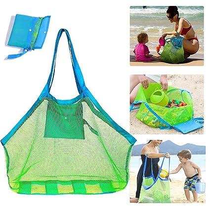 Mesh Beach Bag Bolsa de Playa de Malla Extragrande para ...