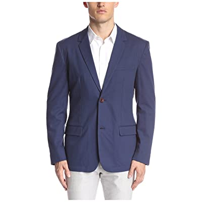 FARAH Men's Newington Honeycomb Blazer, Ink Blue, 38: Clothing