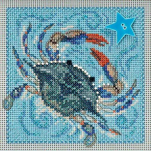 Seahorse Cross Stitch Kit Mill Hill 2018 Buttons /& Beads Spring MH141813