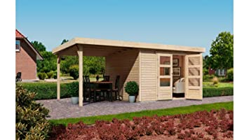 KARIBU Gartenhaus Arnis 4, mit seitlichem Schleppdach (ca. 220cm ...
