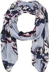 SIX Halstuch mit abstraktem Blumen Print Muster blau rosa Sommer Frühling 100cm breit 200cm lang (426-565)