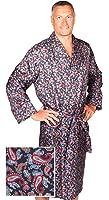 Robe de Chambre en Soie - Paisley Bleu Marine / Rouge - Homme - Peignoir