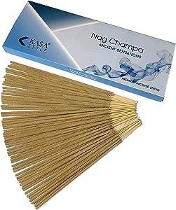 Kasa Style Nag Champa Ancient Sensations - Premium Incense Sticks - 100gr - 100% Natural No Chemicals - 1 Hour Burning