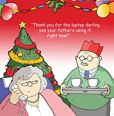 Biglietti Di Natale Divertenti.Twizler Merry Christmas Card Con Nonni E Portatile Happy Christmas